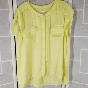 Chico's yellow size 2 top